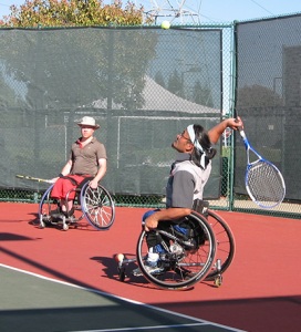 Members of the South Bay Smash Wheelchair Tennis Team